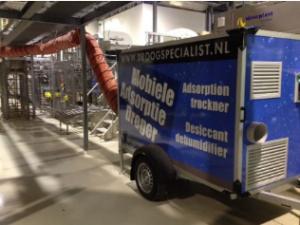 Luchtvochtigheid fabriek op orde door adsorptiedroger Droogspecialist