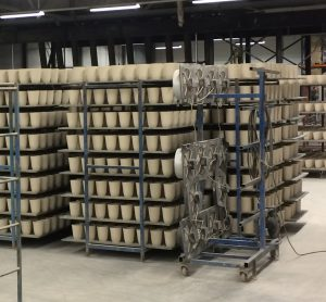 Drogen productie bloempotten