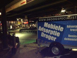 Mobiele adsorptiedroger vloer kartbaan condensprobleem