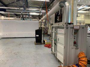 luchtvochtigheid verminderen bij productie