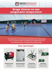 Leaflet conditioneren tenten
