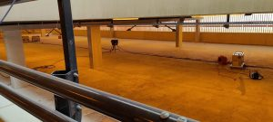 betonvloer laten drogen